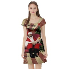 Karl Marx Santa  Short Sleeve Skater Dress