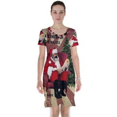 Karl Marx Santa  Short Sleeve Nightdress