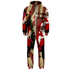 Karl Marx Santa  Hooded Jumpsuit (men)