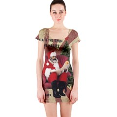 Karl Marx Santa  Short Sleeve Bodycon Dress