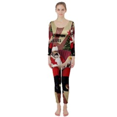 Karl Marx Santa  Long Sleeve Catsuit