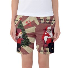 Karl Marx Santa  Women s Basketball Shorts