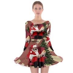 Karl Marx Santa  Long Sleeve Skater Dress