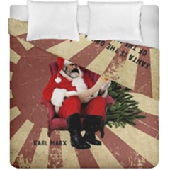 Karl Marx Santa  Duvet Cover Double Side (king Size)