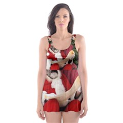 Karl Marx Santa  Skater Dress Swimsuit