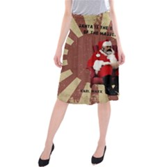 Karl Marx Santa  Midi Beach Skirt