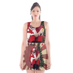 Karl Marx Santa  Scoop Neck Skater Dress
