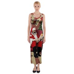 Karl Marx Santa  Fitted Maxi Dress