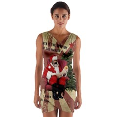 Karl Marx Santa  Wrap Front Bodycon Dress