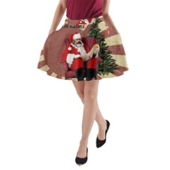 Karl Marx Santa  A Line Pocket Skirt