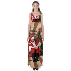 Karl Marx Santa  Empire Waist Maxi Dress