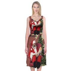 Karl Marx Santa  Midi Sleeveless Dress