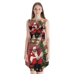 Karl Marx Santa  Sleeveless Chiffon Dress