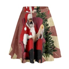 Karl Marx Santa  High Waist Skirt