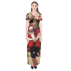 Karl Marx Santa  Short Sleeve Maxi Dress