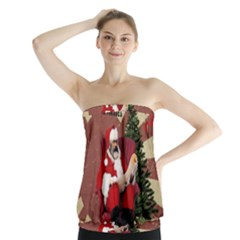 Karl Marx Santa  Strapless Top