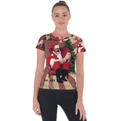 Karl Marx Santa  Short Sleeve Sports Top