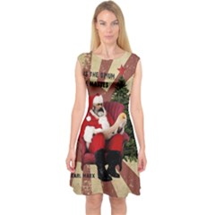 Karl Marx Santa  Capsleeve Midi Dress