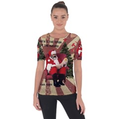 Karl Marx Santa  Short Sleeve Top