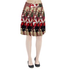 Karl Marx Santa  Pleated Skirt