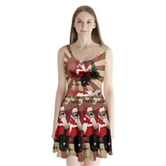 Karl Marx Santa  Split Back Mini Dress