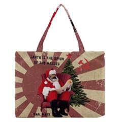 Karl Marx Santa  Zipper Medium Tote Bag