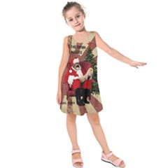 Karl Marx Santa  Kids  Sleeveless Dress