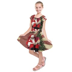 Karl Marx Santa  Kids  Short Sleeve Dress