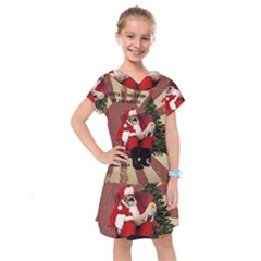 Karl Marx Santa  Kids  Drop Waist Dress