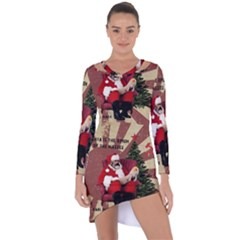 Karl Marx Santa  Asymmetric Cut Out Shift Dress