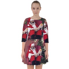 Karl Marx Santa  Smock Dress