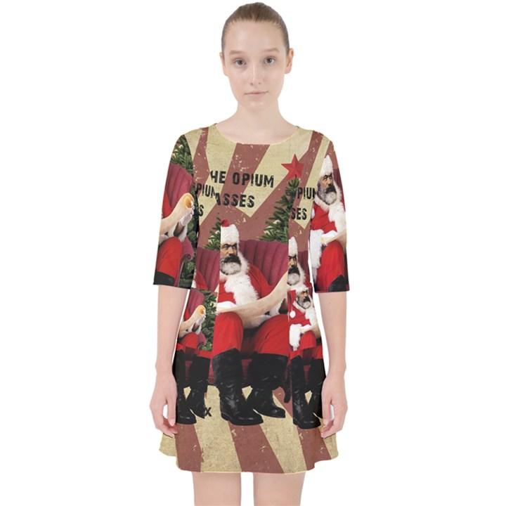 Karl Marx Santa  Pocket Dress