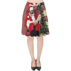 Karl Marx Santa  Velvet High Waist Skirt