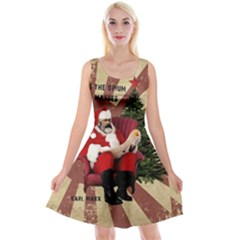 Karl Marx Santa  Reversible Velvet Sleeveless Dress