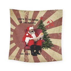 Karl Marx Santa  Square Tapestry (small)