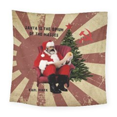 Karl Marx Santa  Square Tapestry (large)