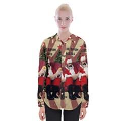 Karl Marx Santa  Womens Long Sleeve Shirt