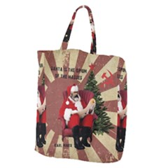 Karl Marx Santa  Giant Grocery Zipper Tote