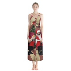 Karl Marx Santa  Button Up Chiffon Maxi Dress