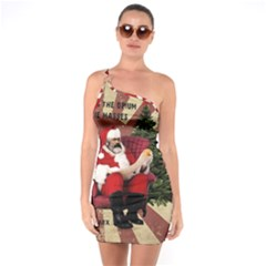 Karl Marx Santa  One Soulder Bodycon Dress