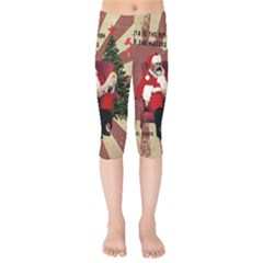 Karl Marx Santa  Kids  Capri Leggings