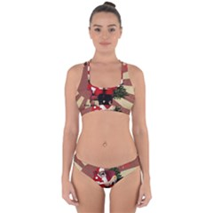 Karl Marx Santa  Cross Back Hipster Bikini Set