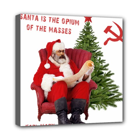 Karl Marx Santa  Mini Canvas 8  X 8