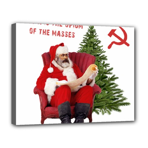 Karl Marx Santa  Canvas 14  X 11