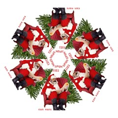 Karl Marx Santa  Mini Folding Umbrellas