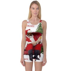 Karl Marx Santa  One Piece Boyleg Swimsuit