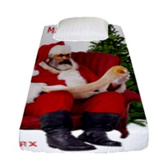 Karl Marx Santa  Fitted Sheet (single Size)