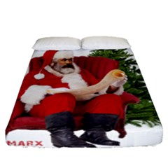 Karl Marx Santa  Fitted Sheet (queen Size)