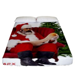 Karl Marx Santa  Fitted Sheet (king Size)