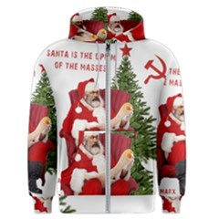 Karl Marx Santa  Men s Zipper Hoodie